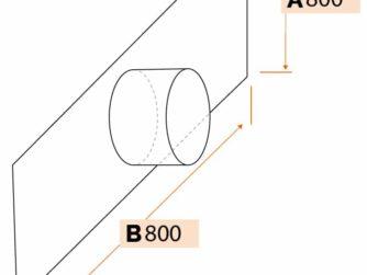Tôle plane avec piquage circulaire